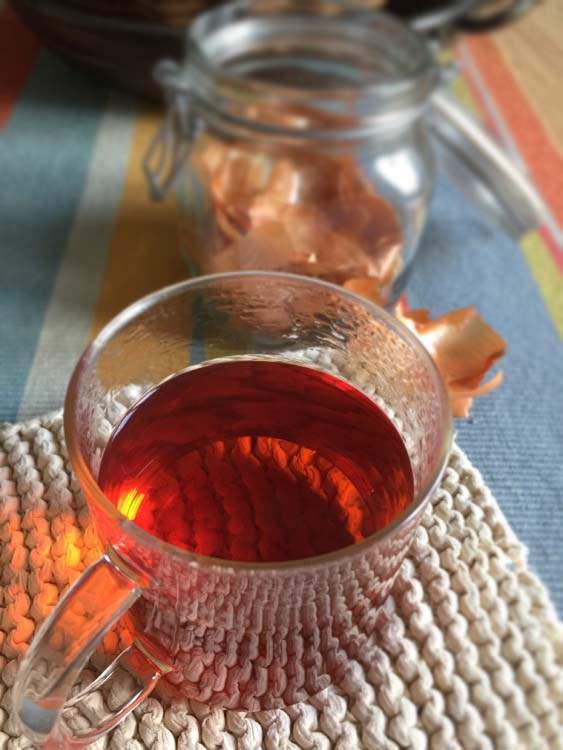 Bucce di cipolla dorata - decotto per la tosse